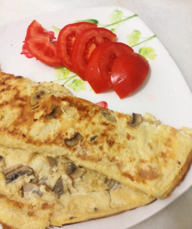 mantarlı omlet proteinli
